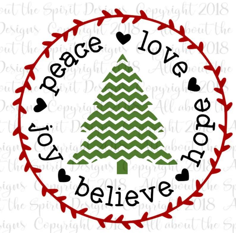 Download Christmas SVG Peace Love Joy svg Believe Svg Christmas   Etsy