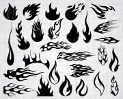 flame svg bundle