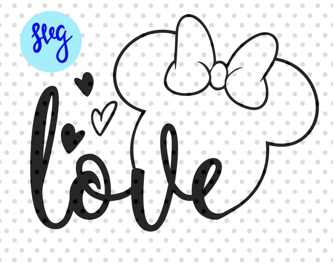 Download Disney svg Love svg Minnie Mouse svg mouse ears svg | Etsy