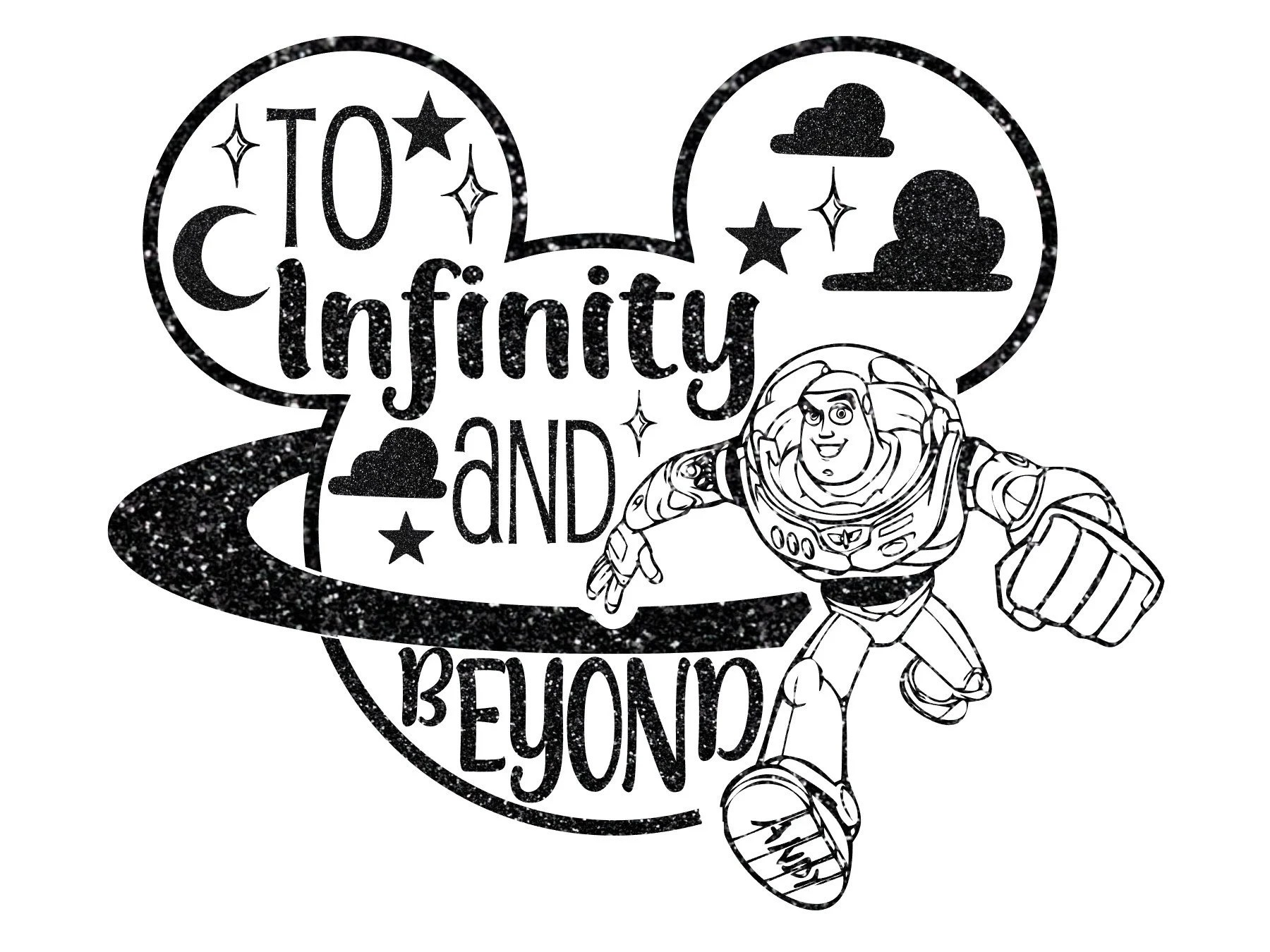 Toy Story 4 Svg To Infinity And Beyond Svg Silhouette