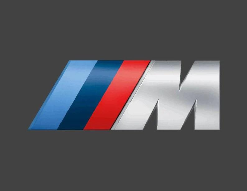 bmw m logo on