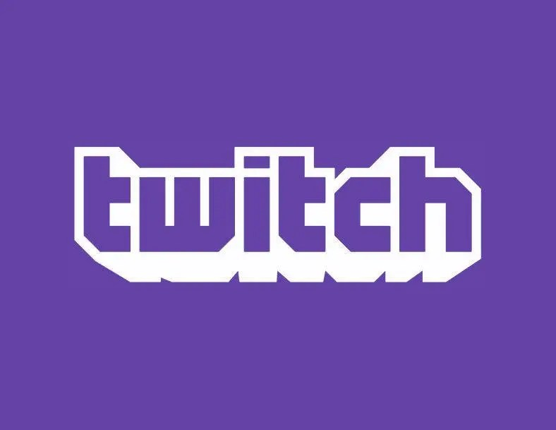 twitch text logo vector