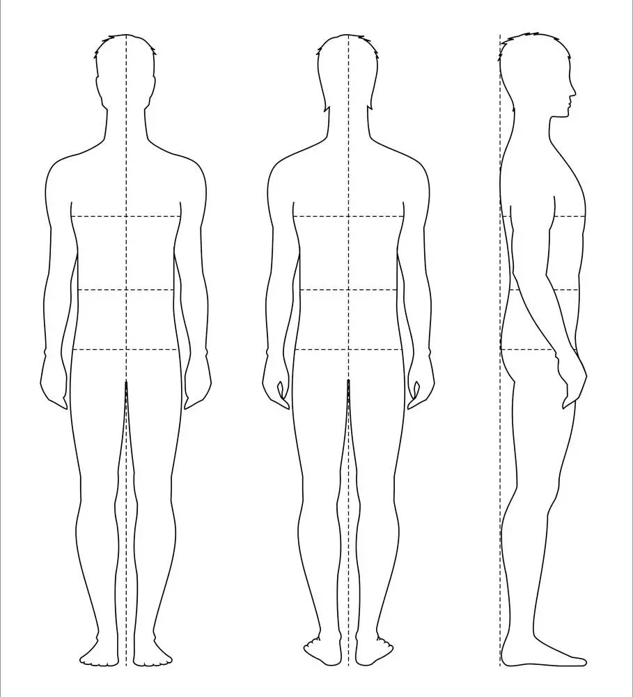 Mnnliche Figur Vektor Skizze Mode Croquis Mann Silhouette Etsy