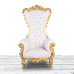 High Backed Throne Chair All Weather Garden Etsy White And Gold Wedding Bride Groom Luxury Tufted Back With Diamonds Nail Heads Hand Made Baroque