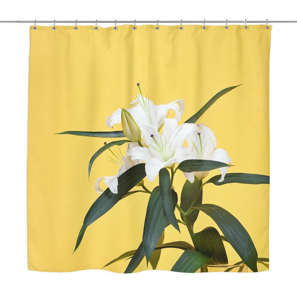 Lily Flower Shower Curtain Colorful Photo Shower Curtains Etsy