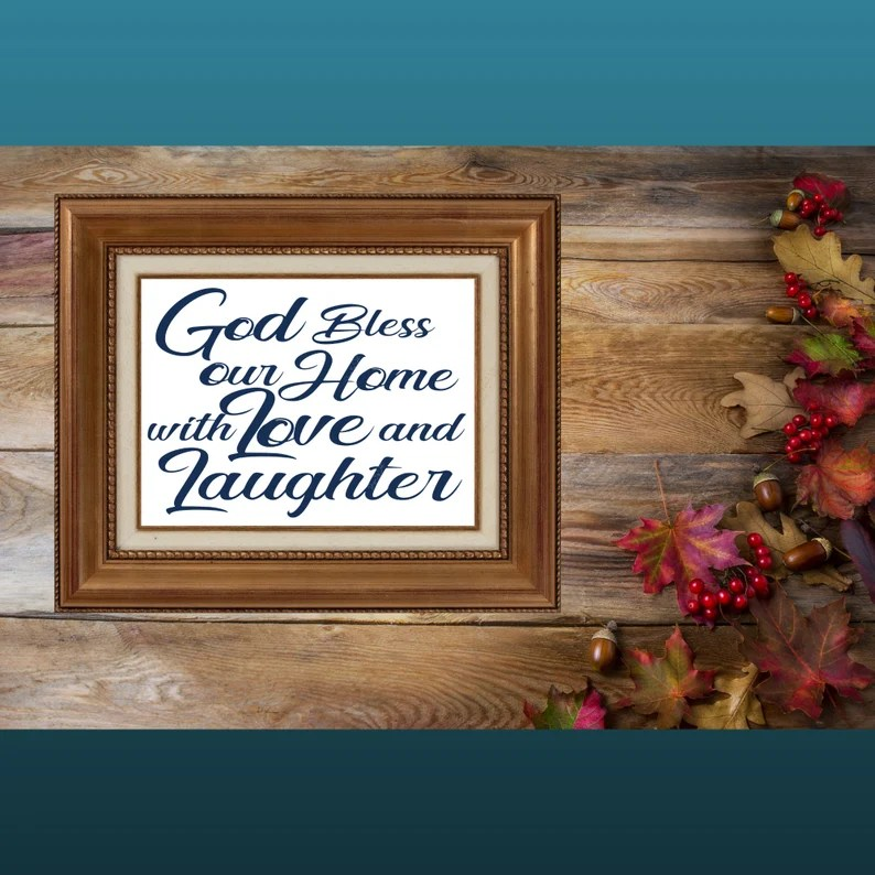 Download God Bless This Home with Love and Laughter decal digital ...