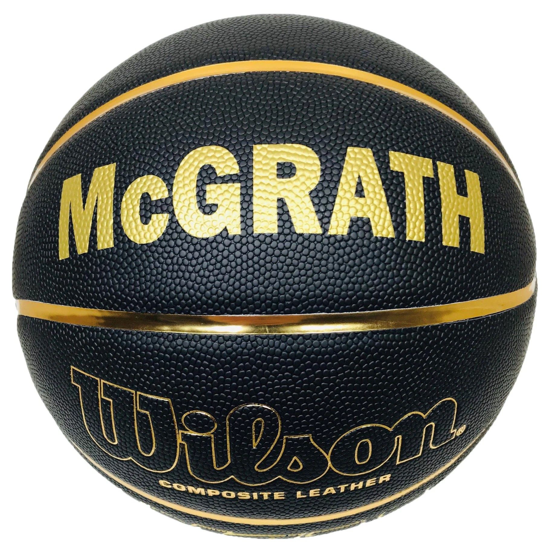 Customized Personalized Wilson NCAA Black and Gold Basketball image 1