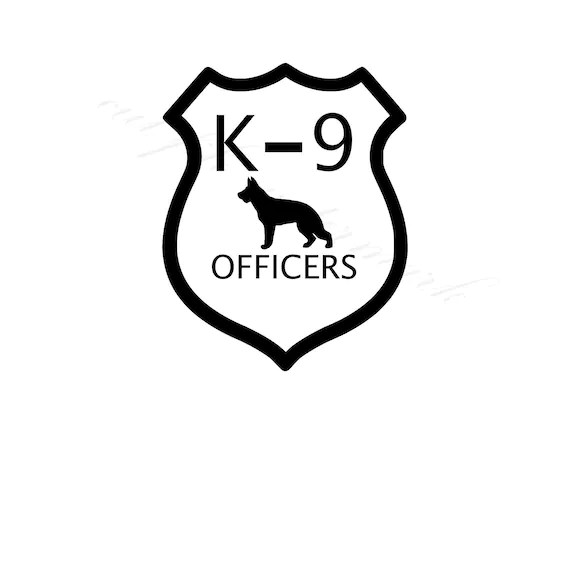 K-9 Officer Outline SVG & Studio 3 File for Silhouette