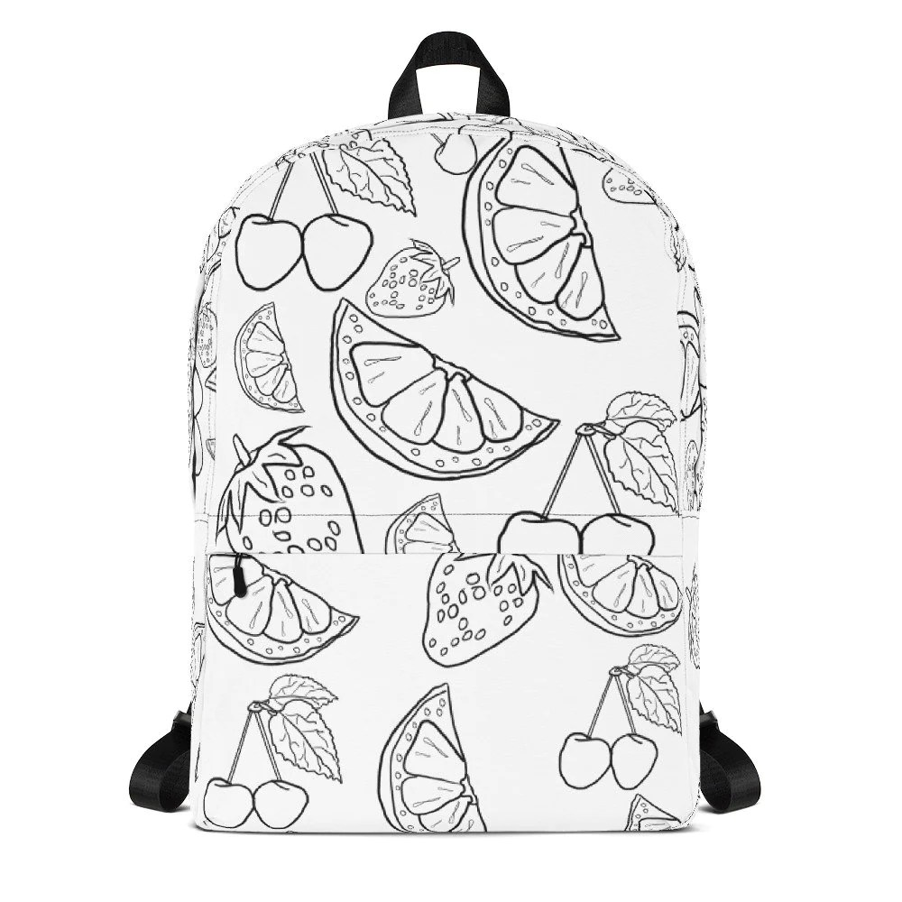 Coloring Backpack, This unique Adult coloring bag made