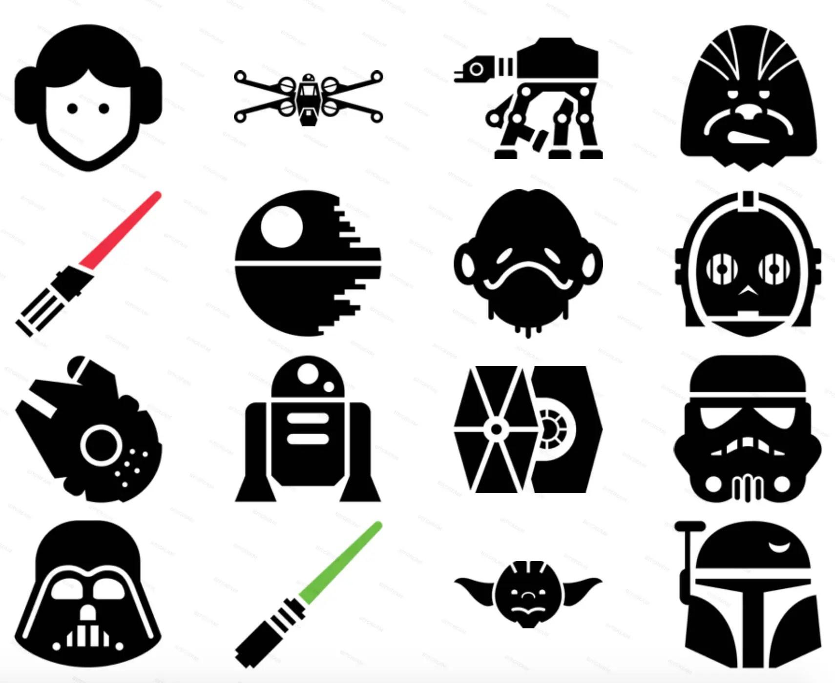 Star Wars Icons Skywalker Jedi Licht Saber roten Schwert  Etsy