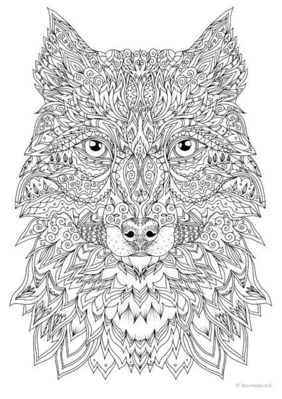 Coloring Pages For Adults Wolf : coloring, pages, adults, Fantasy, Printable, Adult, Coloring, Favoreads
