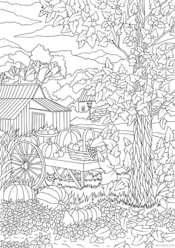 Harvest Coloring Pages for Adults | Top Free Coloring Pages For...