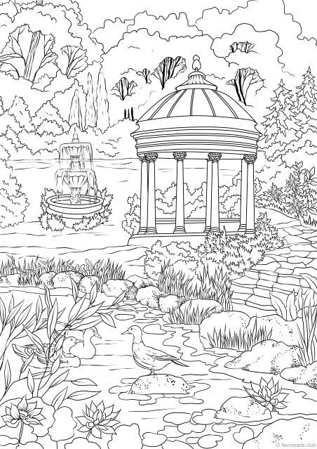 Printable Garden Coloring Pages : printable, garden, coloring, pages, Elegant, Garden, Printable, Adult, Coloring, Favoreads