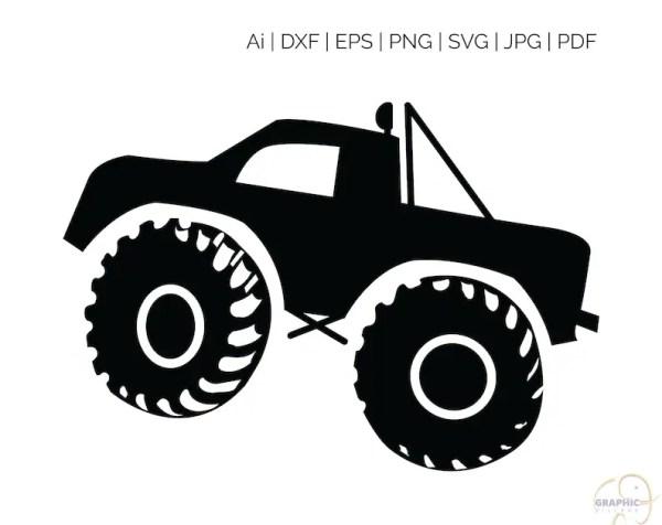 monster truck svg eps. vector clipart
