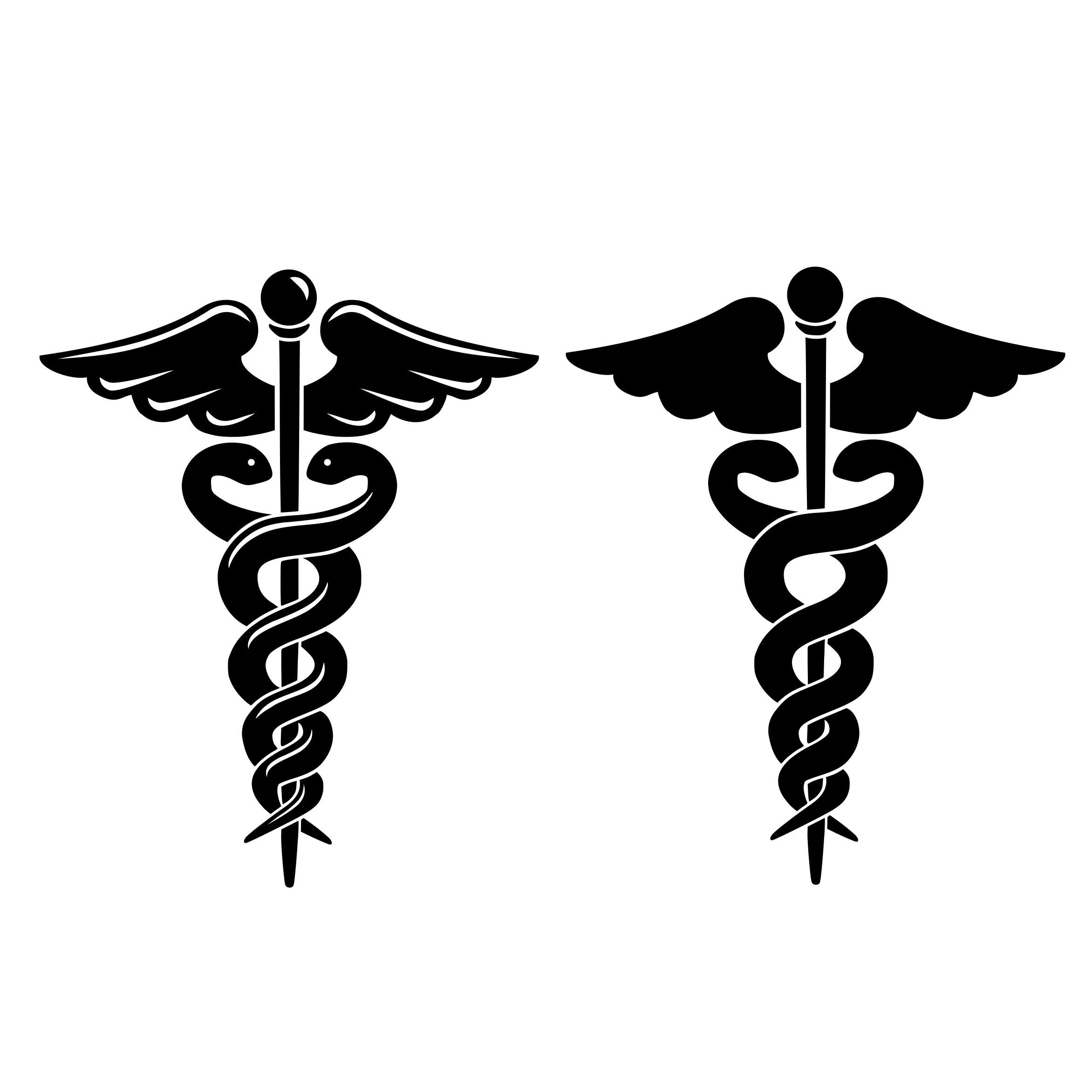 Caduceus Svg Medical Symbol Nurse Svg Rn Svg File For