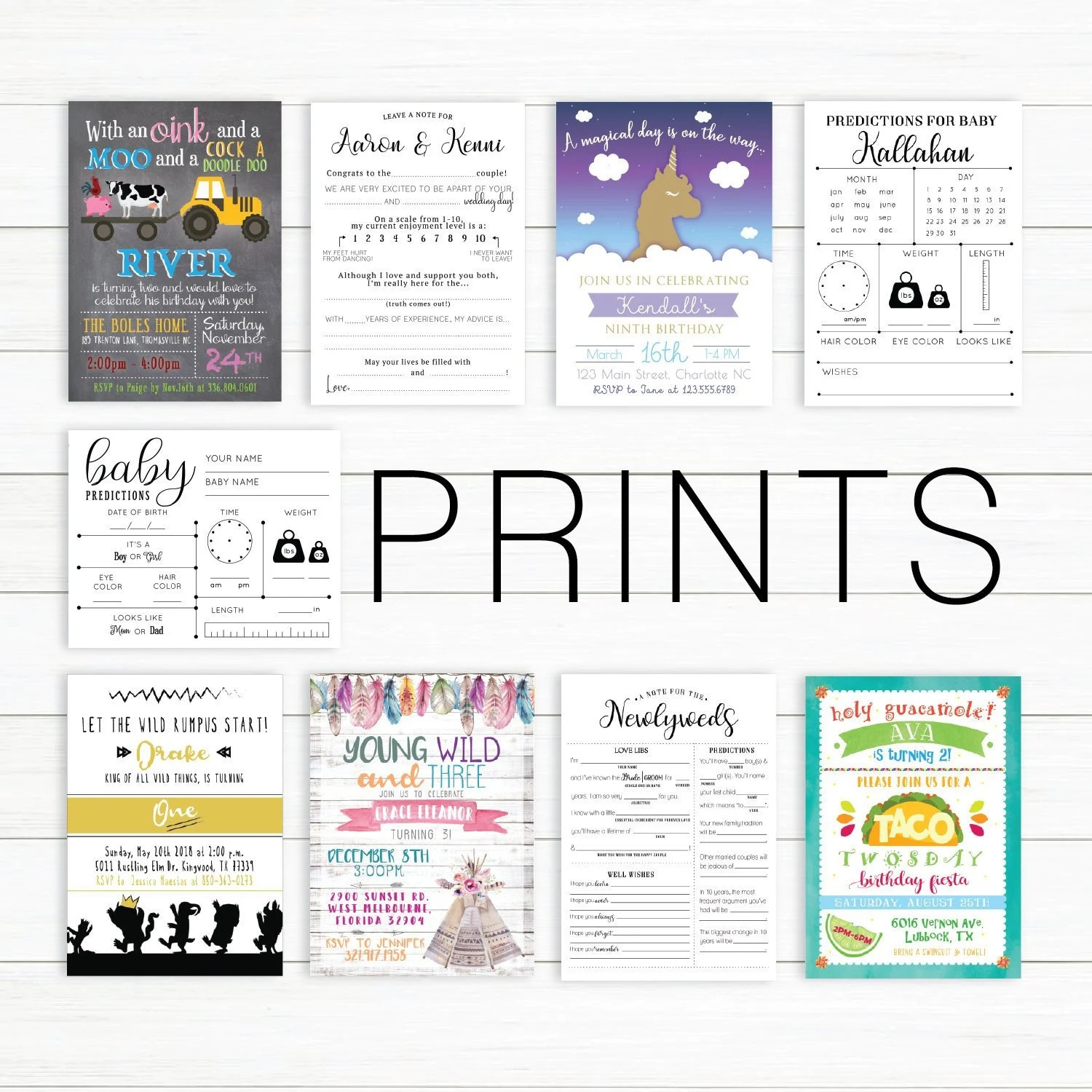 prints of designs in