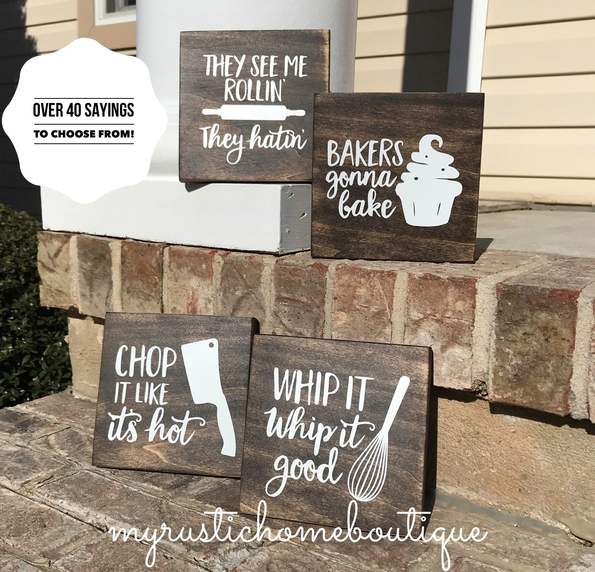 kitchen plaques lighting fixtures ceiling signs etsy decor funny baker rustic wall bakers gonna bake haters hate