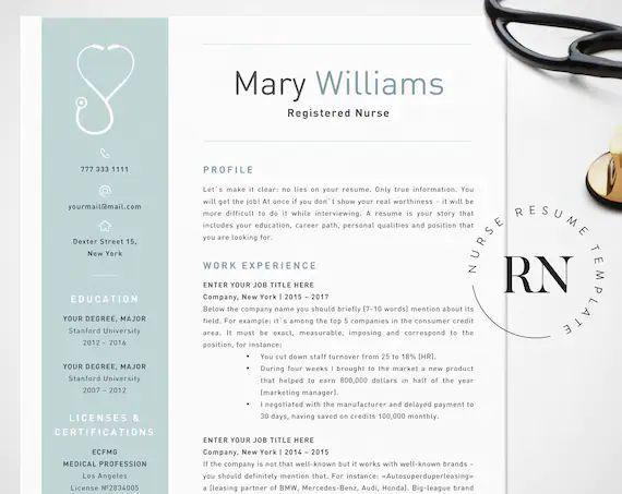 microsft resume templates fro nurses