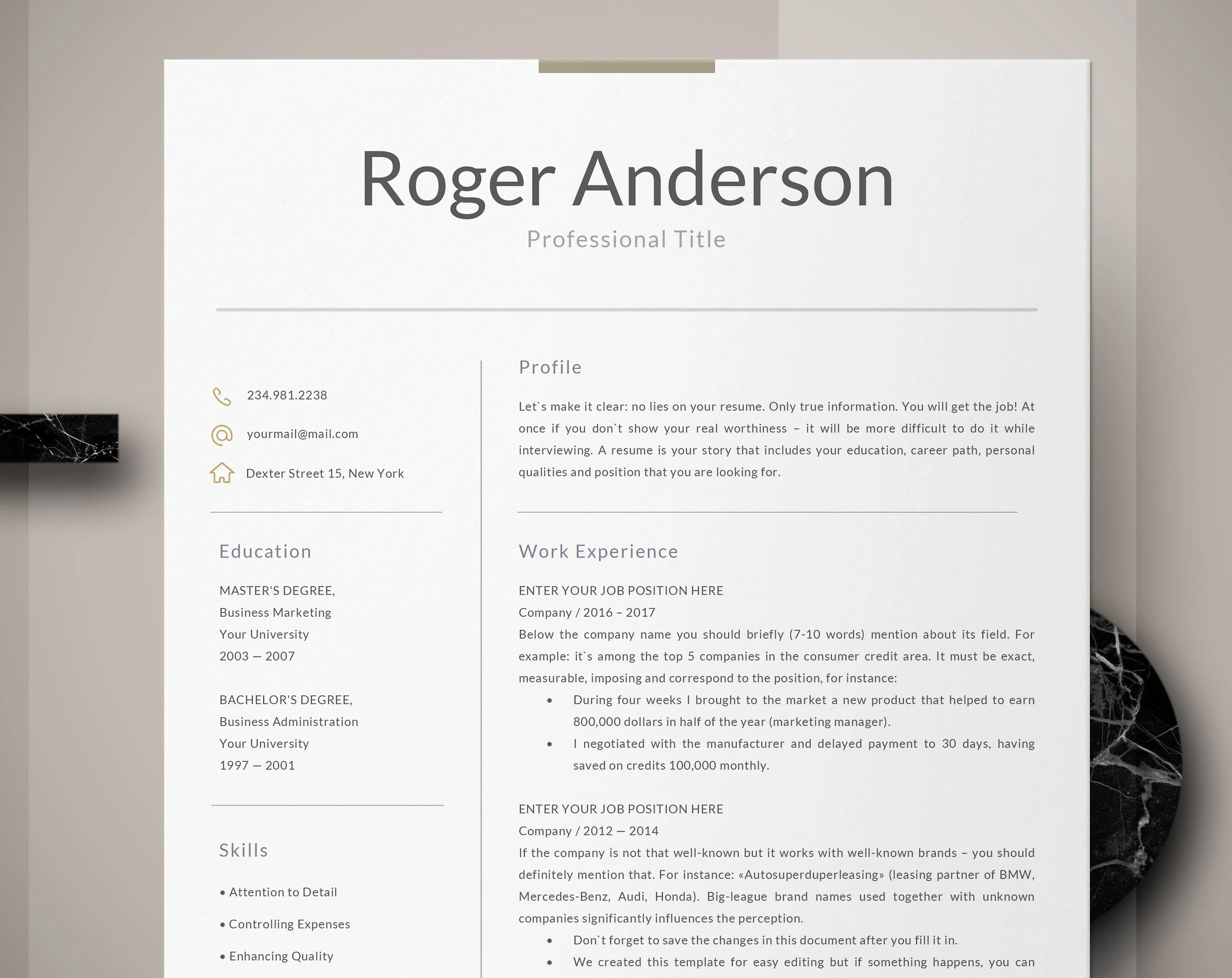 Business Resume Template Word Executive Resume Template Business Resume For Word Engineering Resume Finance Technical Hr Manager Professional Resumes Icons