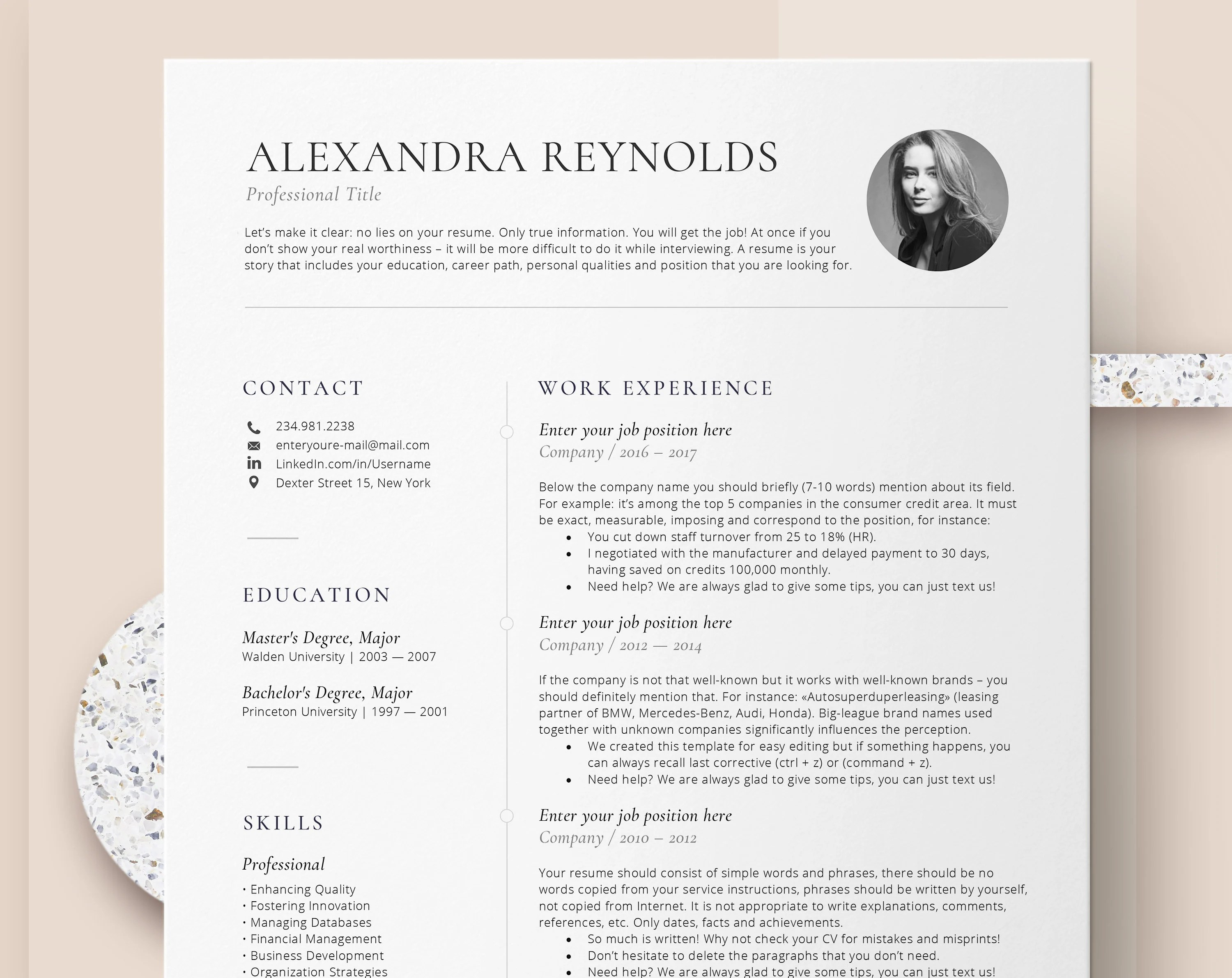 How To Make A Resume On A Mac Resume Template For Mac Cv Template With Photo Professional Resume Templates Word Mac Pages Creative Resume Template Instant Download