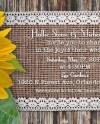 Rustic Sunflower Wedding Invitation Etsy