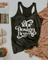 Next Level 6733 Mockup Summer Mockup Vintage Black Tank Etsy