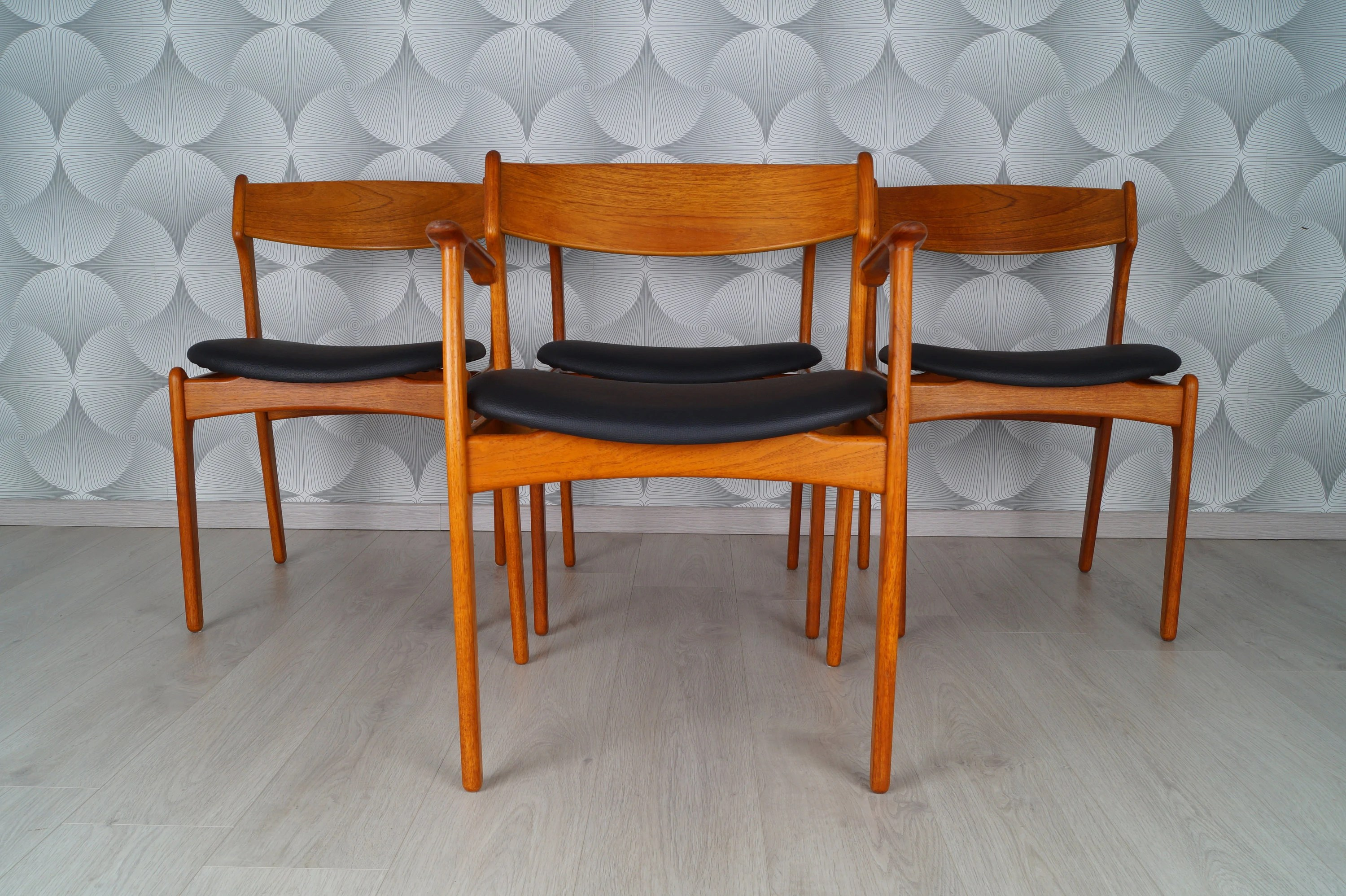 Teak Dining Room Chairs 4 Set Danish Teak Dining Room Chairs 50s 60s O D Møbler