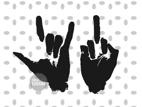 small resolution of middle finger svg middle finger clipart rock n roll hand svg middle finger silhoutte printable cut files digital file instant download