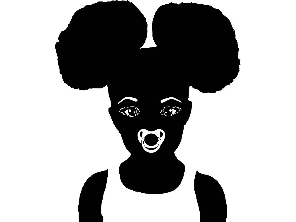 Afro Baby Girl Afro Hair Style Afro Puff Cute Girl Natural Etsy