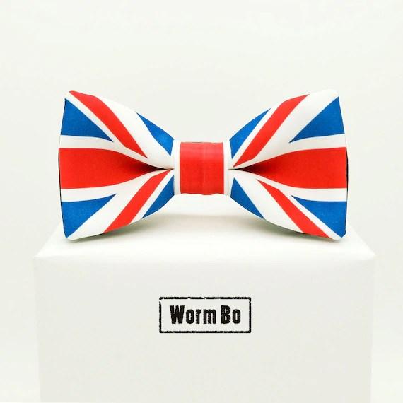 british flag bow tie
