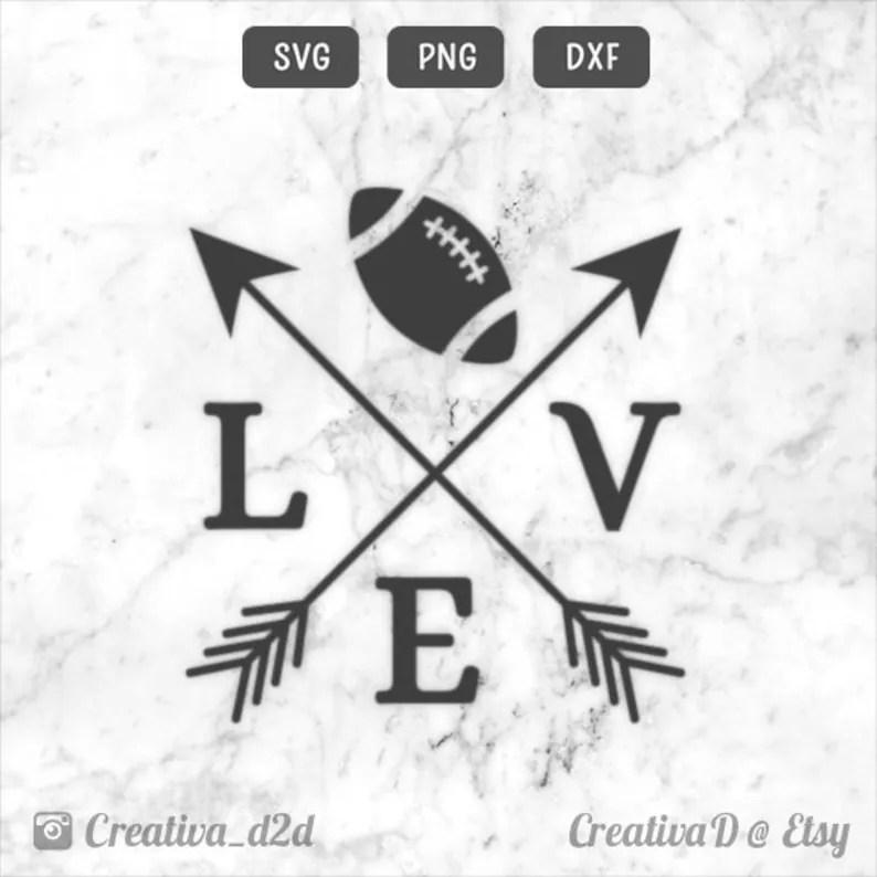 Download Love Football Arrows SVG DXF PNG Vector Clip Art Cut File ...