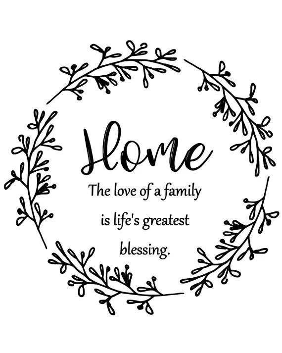 Download Home The love of a family is life's greatest blessing | Etsy