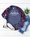 Bella Canvas 3501 Heather Navy Unisex Long Sleeve T Shirt Etsy