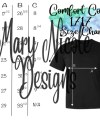 Comfort Colors 1717 Size Chart T Shirt Mockup Flat Lay Etsy