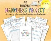 The Printable Happiness Project • Gratitude • Self-Love • Positivity • Mental Health • Positive Habits • Daily Focus