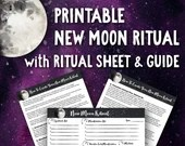 Printable New Moon Ritual • Law of Attraction Moon Planner • Moon Magic • Moon Manifesting • Lunar Cycle