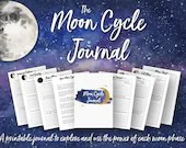Printable Moon Cycle Journal • Moon Phase Manifestation • Law of Attraction Planner • Moon Manifesting • Moon Magic • Moon Phases