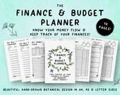 Printable Finance & Budget Planner • Money Planner • Abundance Mindset • Finance Planner • Income • Expenses • Savings