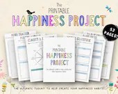 The Printable Happiness Project, Self-Care Planner, Gratitude, Self-Love, Positivity, Mental Health, Positive Habits, Daily Focus