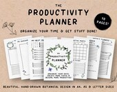 Printable Productivity Planner, Daily Weekly Monthly Organizer, Schedule Planner, To-Do List , Task Planner, Goals, A4, A5, US Letter