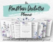 Printable Declutter Planner • KonMari Technique • Tidying • Home Clearance • Spring Cleaning • Home Organizing