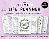 The Ultimate Life Planner, Printable Planner, Goal Setting, Monthly Planning, Weekly Planning, Passion Planner, Productive, Life Organizer