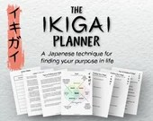 The Printable Ikigai Planner • Find Your Life Purpose • Find Your Passion • Find Fulfillment • Career Planner • Japanese Planner •