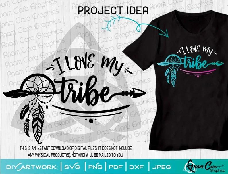 Download I Love my Tribe SVG Cut or Print DIY Art Growing Mom ...