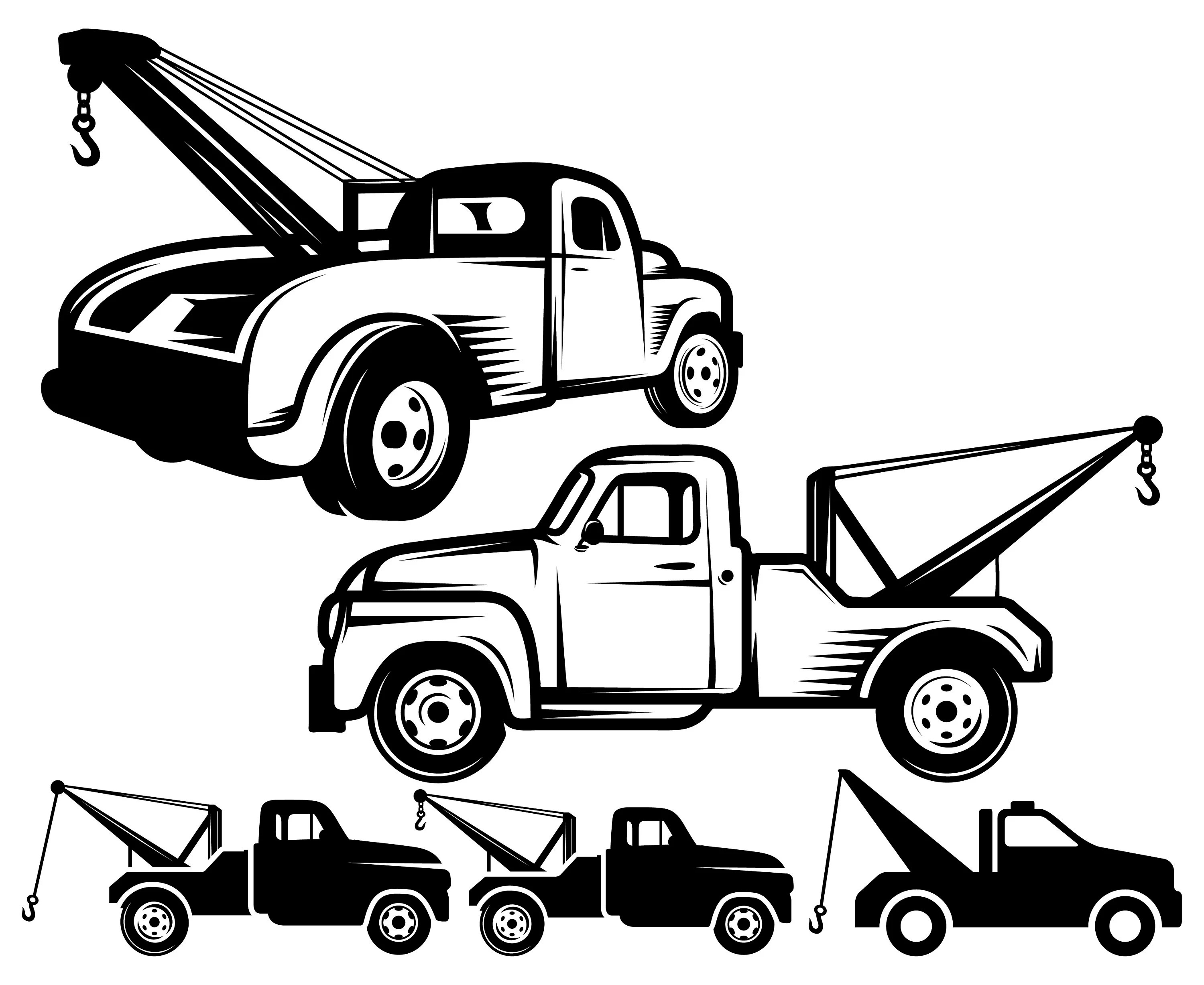 Tow Truck Towing Vintage