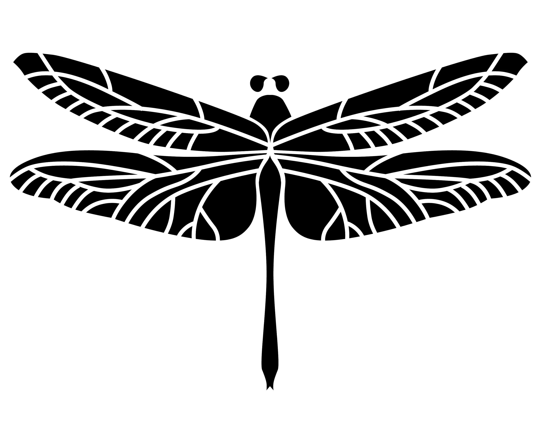 Libelle Silhouette Svg Grafik Illustration Vektor Logo