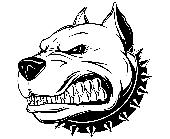 Vector Image Of An Pitbull Cartoon Vector