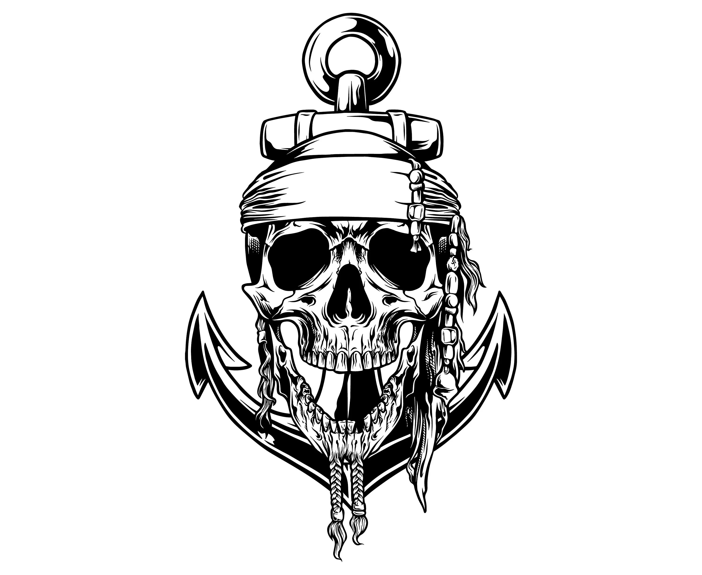 Anchor With Skull Anchor Skull Nautical Naval