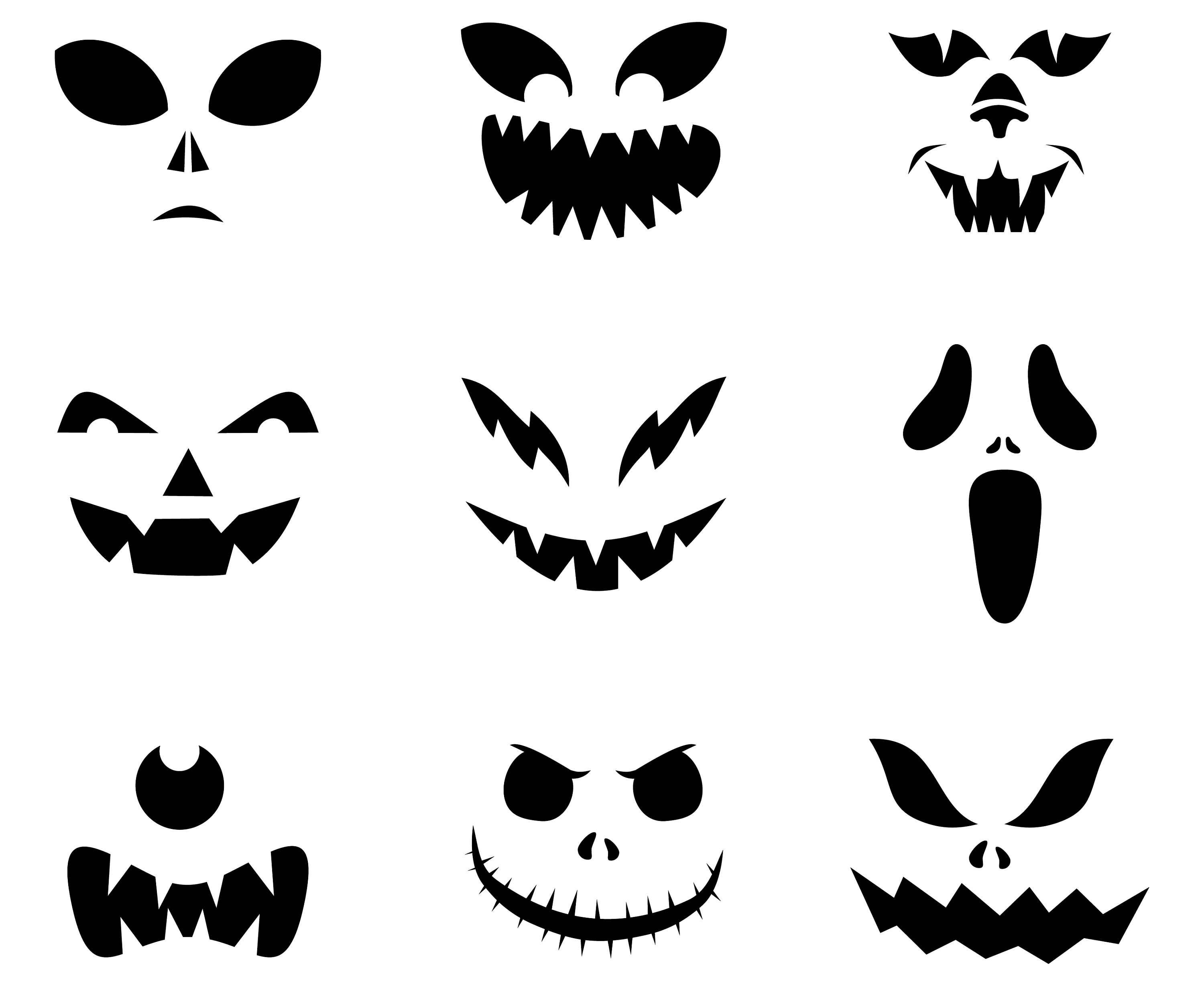 Halloween Scary Spooky Ghost Face Faces Pumpkin