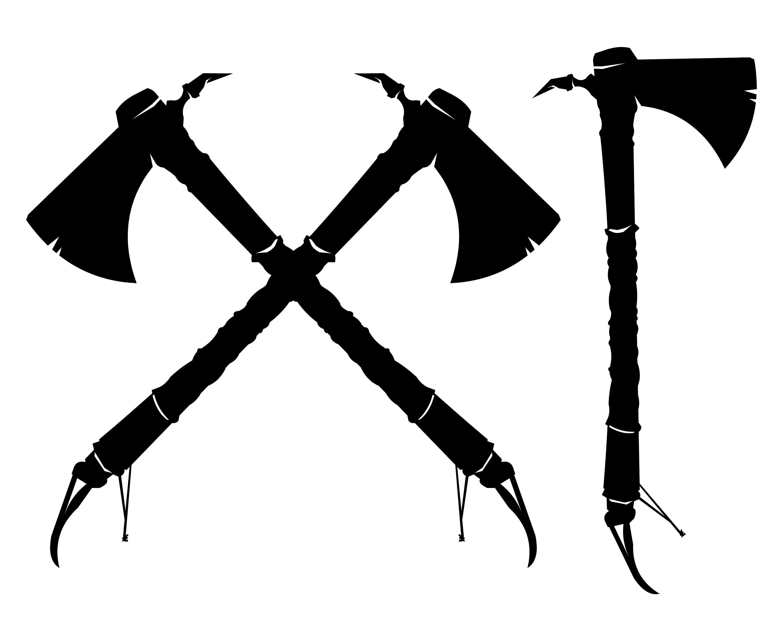 Tomahawk Tribal Indian Axe Axes Crossed